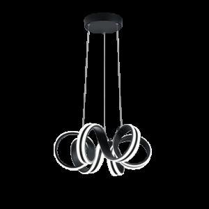 suspension led noir mat