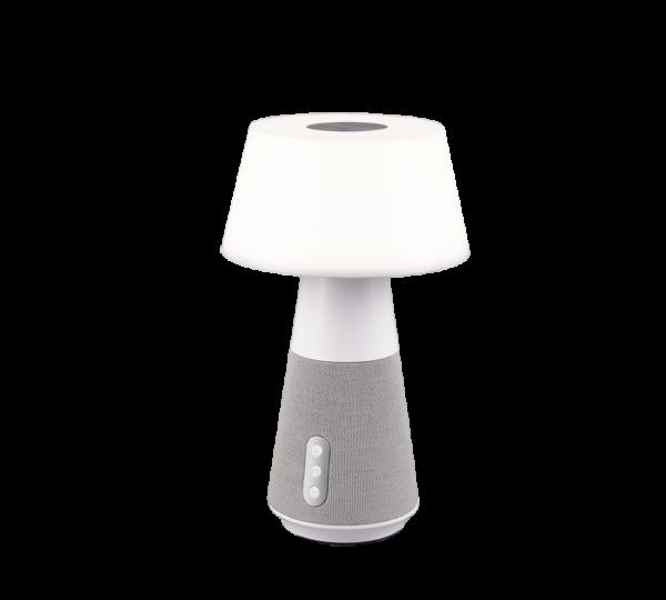 Lampe de table & Enceinte Bluetooth 1x SMD LED, 4,5W · 1x 600lm, 2700+4500+6500K BLANC DJ