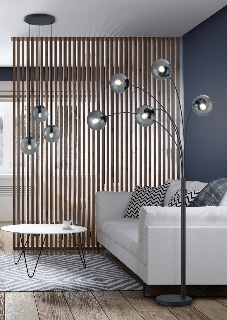 Lampadaire Moderne globe 28W 5x E14 · max BALINI + SUSPENSION