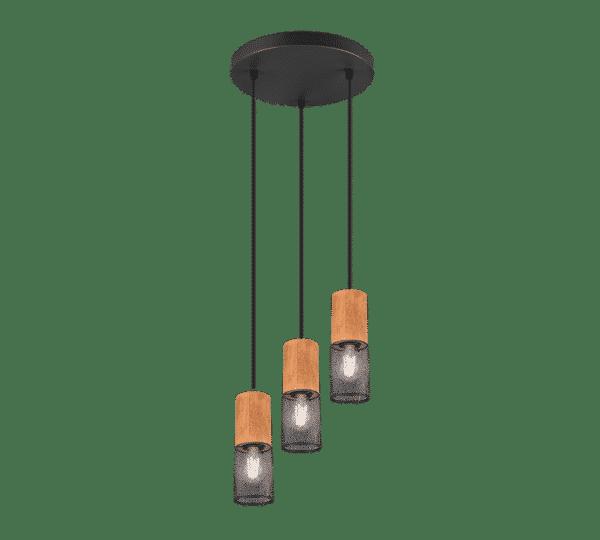 Suspension bois et métal vintage trio TOSH