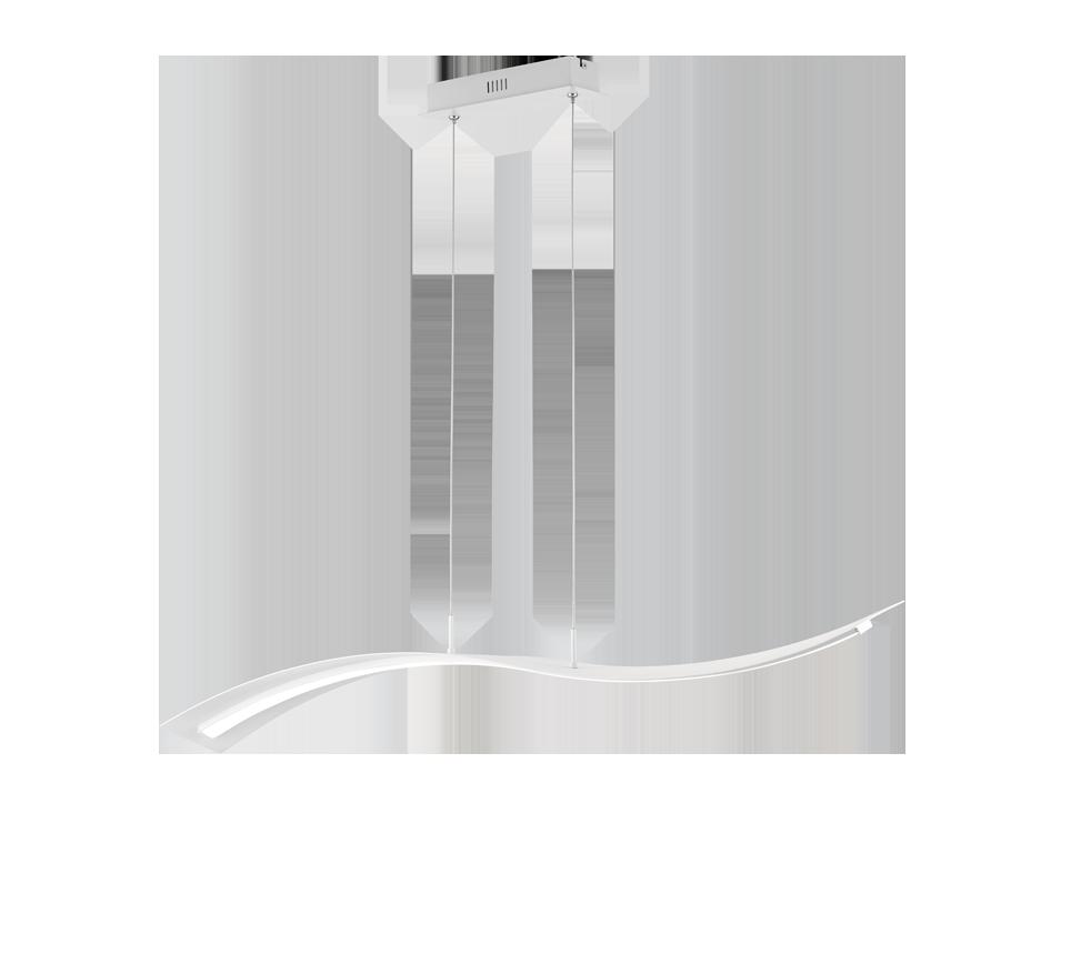 Suspension incl. 1x SMD LED, 35W · 1x 4100lm, 4000K SALERNO