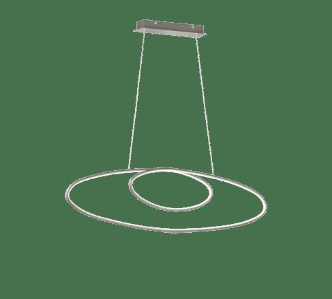 Suspension Moderne Métal SMD LED, 35W · 3700lm, 3000K gris nickel mat