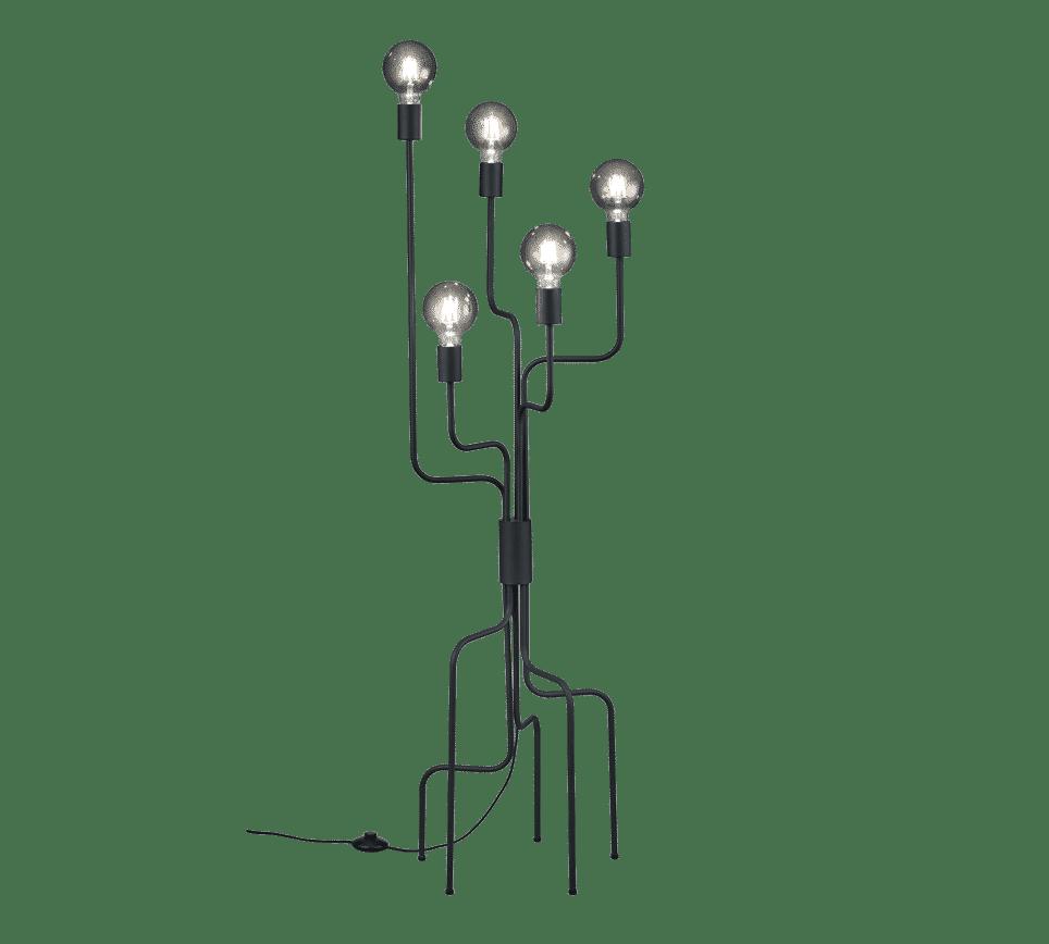 CONNOR Lampadaire design moderne noir