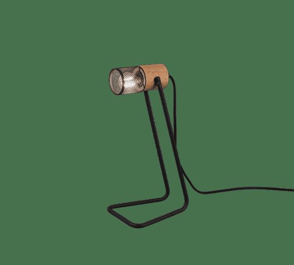 Lampe de table spot bois et métal vintage TOSH