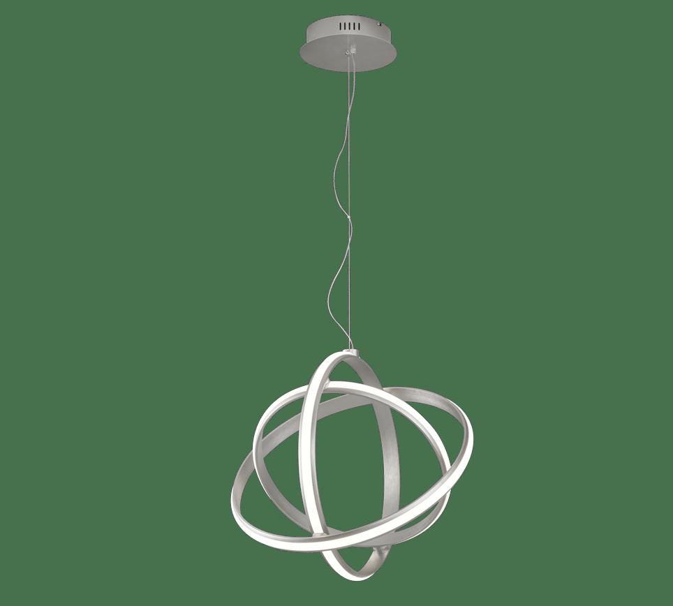 Suspension SMD LED, 45W · 5000lm, 3000K gris nickel mat