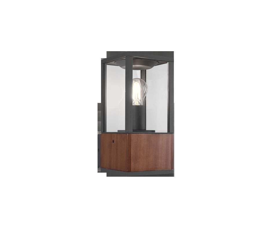 Applique extérieur bois naturel- version petit – culot E27