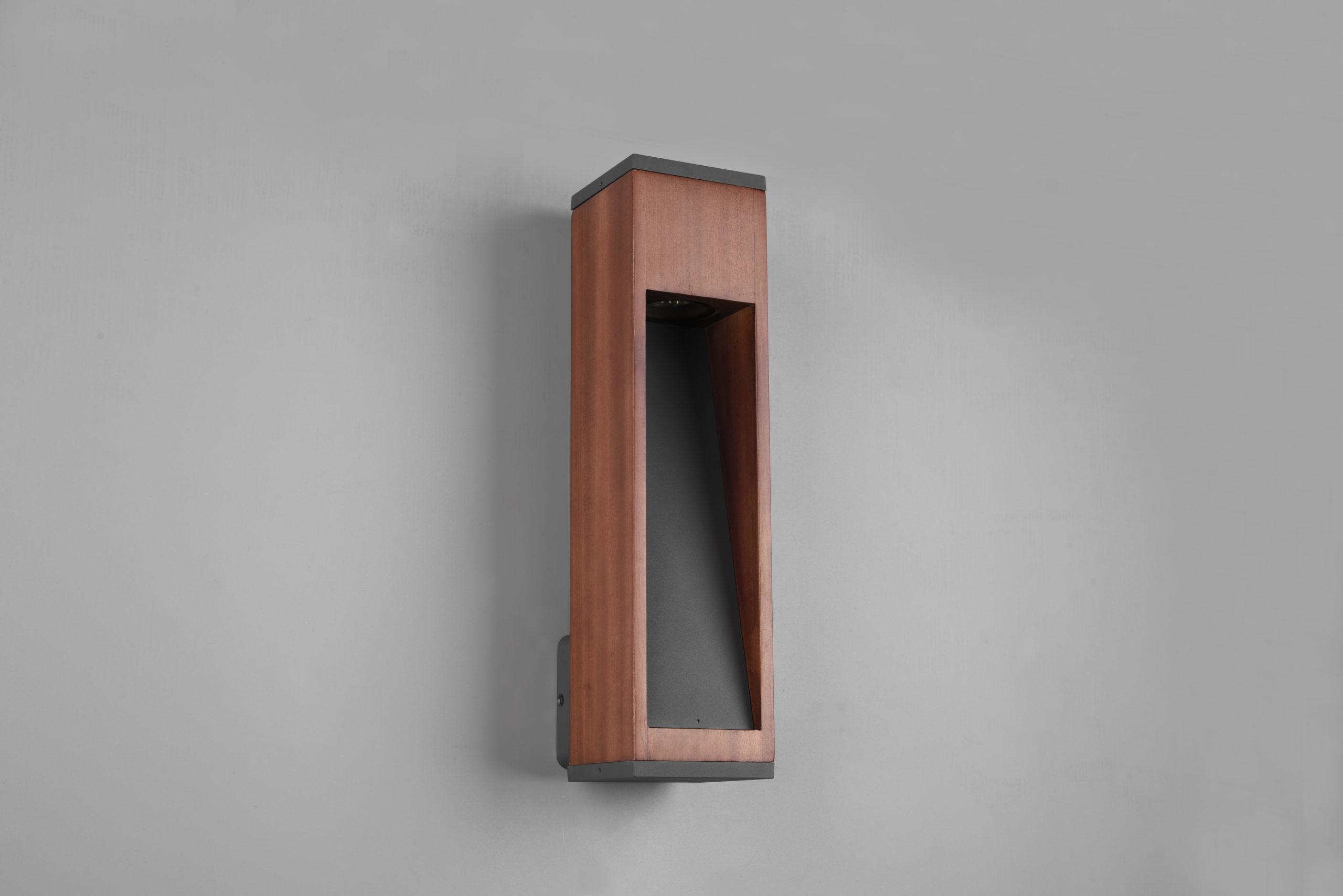 Applique Extérieur en bois naturel Design, GU10
