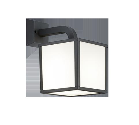 Applique extérieur Cube Design & Moderne, incl. 1x E27 LED, 5W · 1x 400lm, 3000K