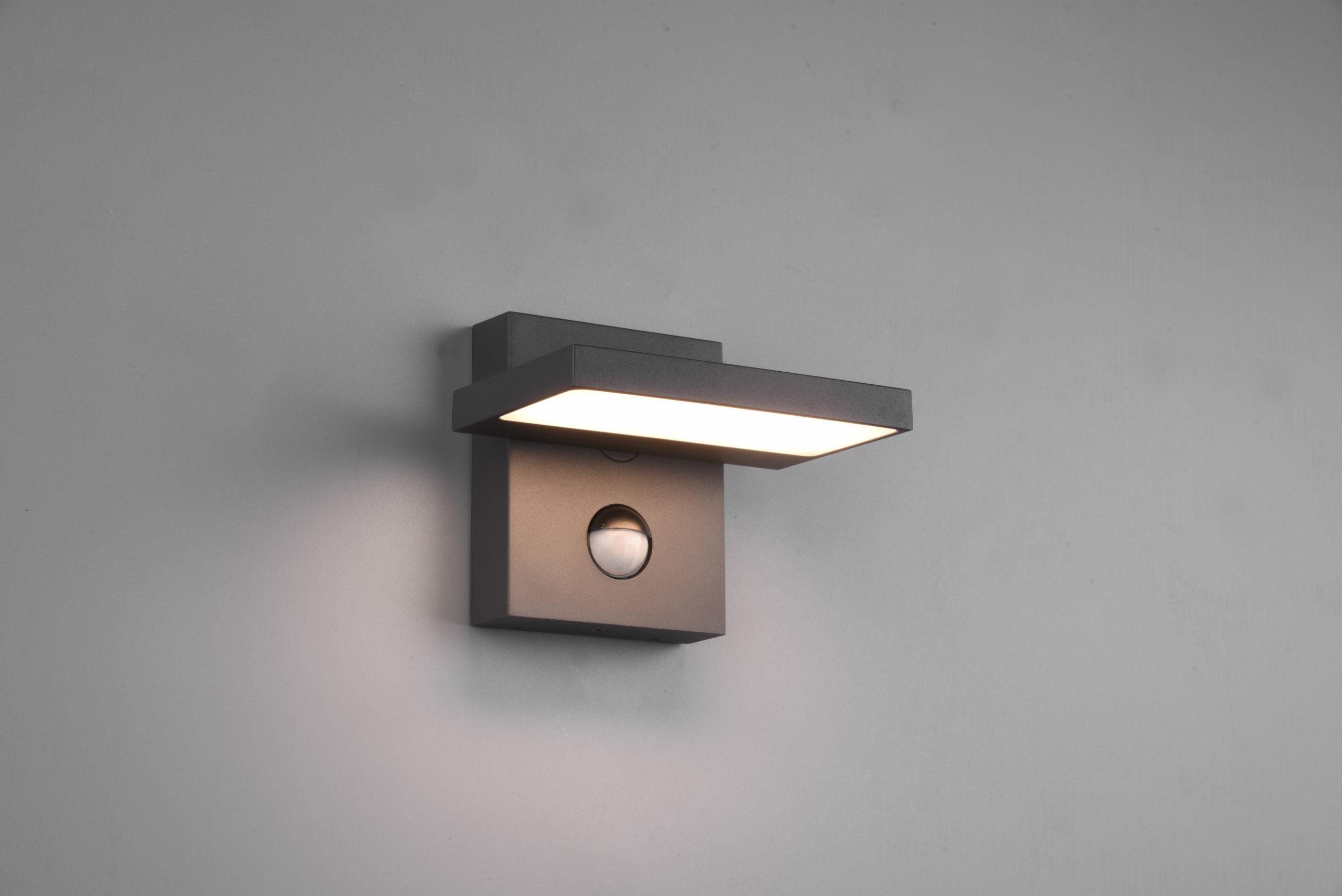Applique extérieur orientable SMD LED, 8W · 1x 1000lm, 3000K avec détecteur de mouvement