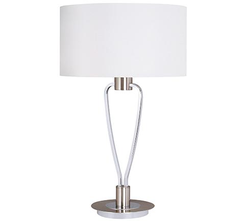 Lampe de table Moderne Design, Laiton Mat & Nickel Mat, sans ampoule(s)