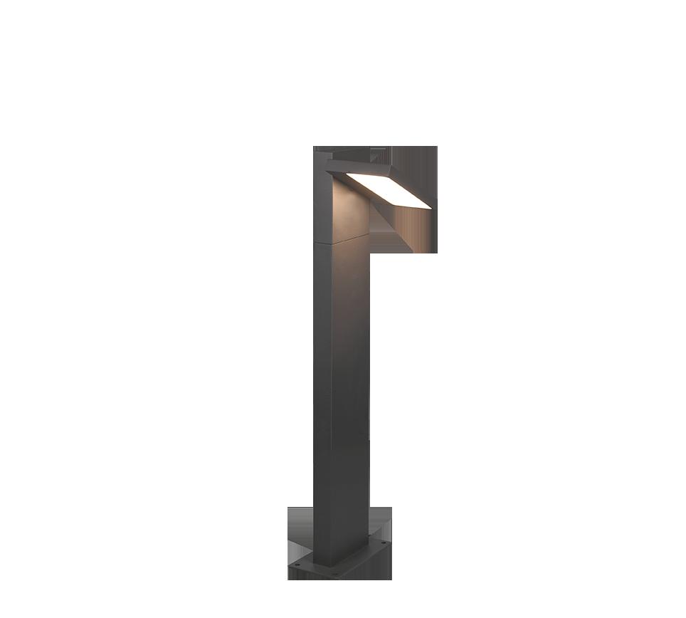 Potelet extérieur orientable, version petit, SMD LED, 8W · 1x 1000lm, 3000K
