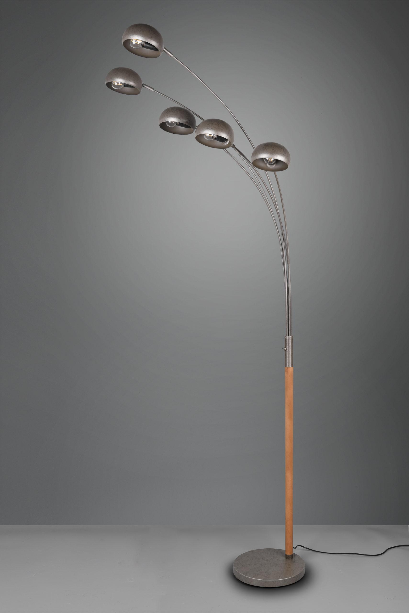 Lampadaire Design bois & metale, sans ampoule(s)