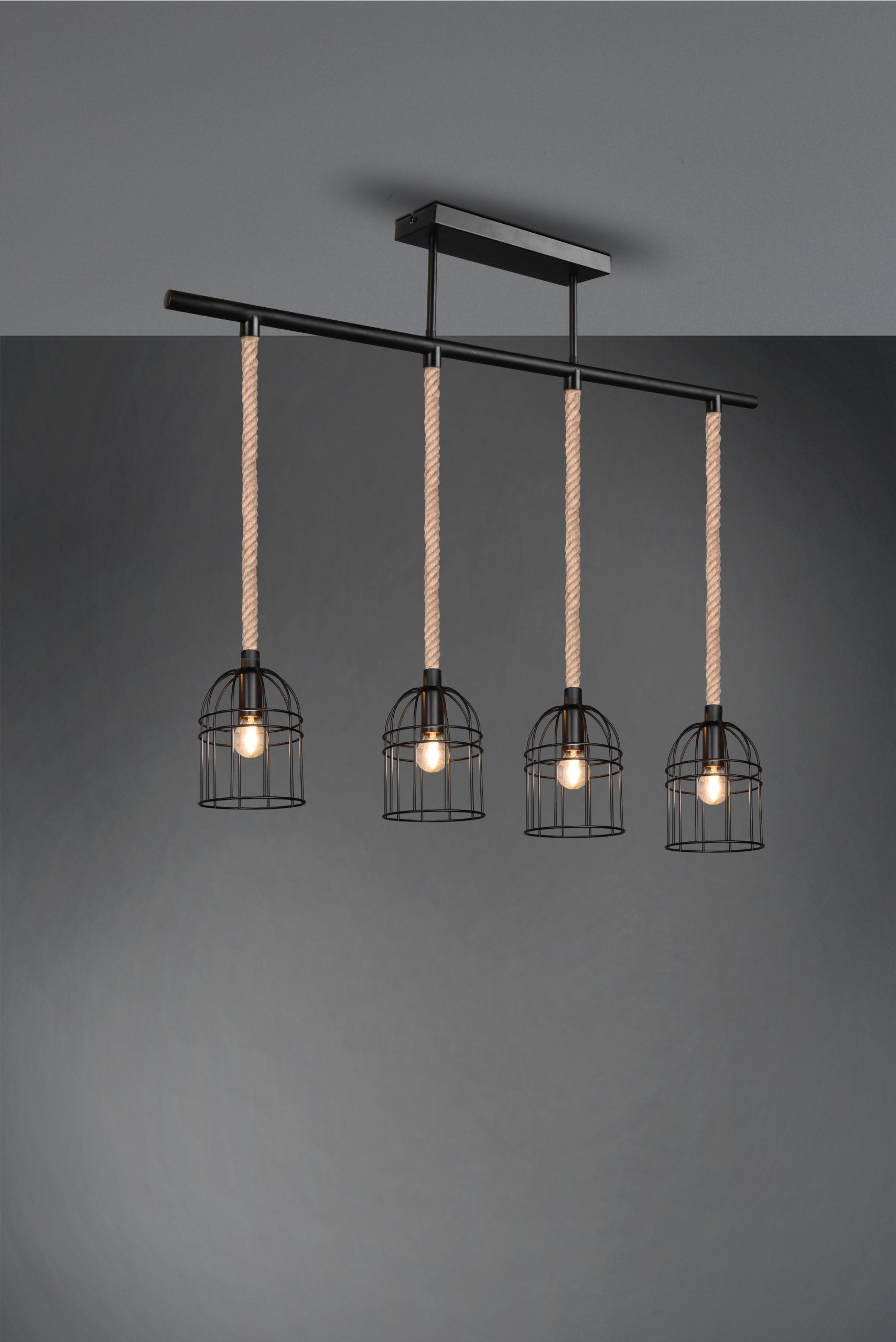 Plafonnier Vintage Cordes & Metale noir, sans ampoule(s)