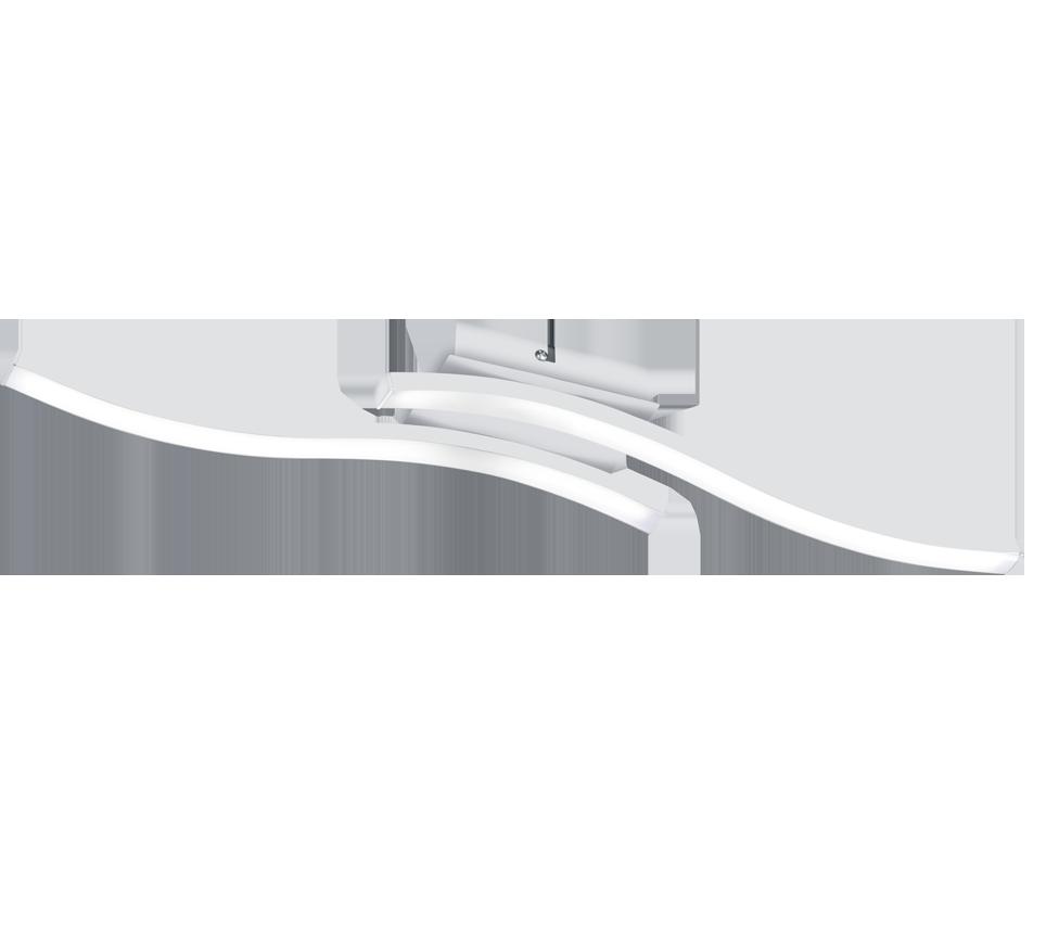 Plafonnier Metale Design Ondulé Moderne Blanc 2x SMD LED, 5W · 2x 500lm, 4000K.
