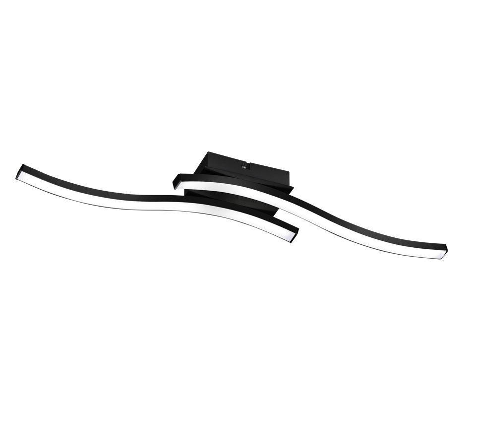 Plafonnier Metale Design Ondulé Moderne 3x SMD LED, 5W · 3x 500lm, 3000K. Plusieurs coloris
