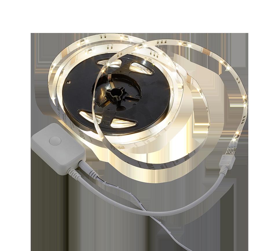 Bandeau LED RGBW 5m SMD LED, 10W · 1x 900lm, 2700 – 6500K (Google Assistant, Alexa, Siri)