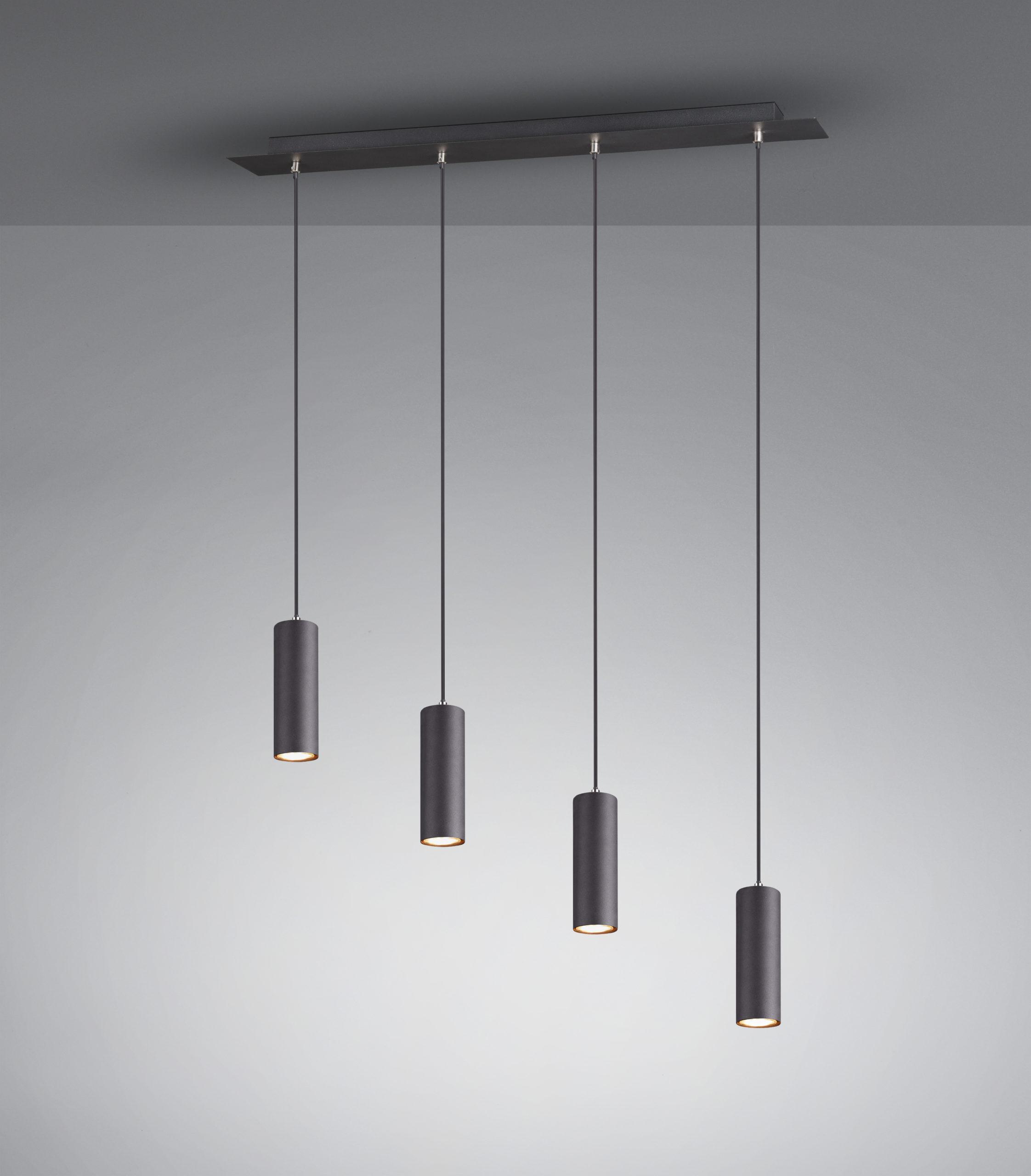 Suspension Design classique moderne excl. 4x GU10 – Noir Mat