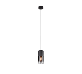 suspension led sans ampoule robin noir mat fumé