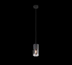 suspension led sans ampoule robin noir mat fumé