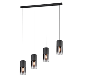 suspension robin noir mat verre