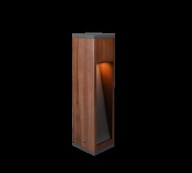 Petit Potelet en bois naturel Design, GU10