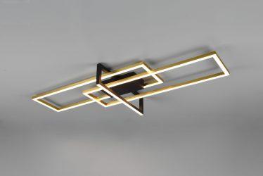 Plafonnier Design rectangulaire lumière directe SMD LED, 34W · 3900lm, 3000K – Plusieurs coloris