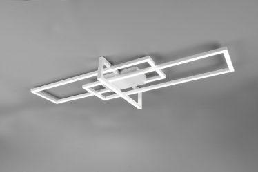 Plafonnier Design rectangulaire lumière directe SMD LED, 34W · 4100lm, 4000K – Blanc Mat