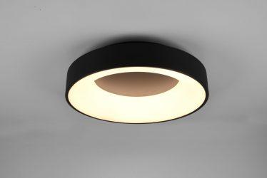 Plafonnier Design rond SMD LED · 27W · 3100lm · 3000K · Noir
