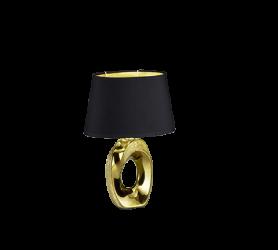 Lampe de table en céramique Or & tissu Noir, Petit Modèle, sans ampoule(s) R50511079