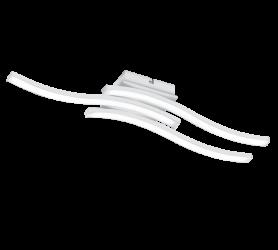 Plafonnier Metale Design Ondulé Moderne Blanc 3x SMD LED, 5W · 3x 500lm, 4000K.