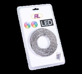 Bandeau LED RGB + W, 5m SMD LED, 24W + télécommande fournie