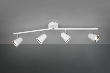 plafonnier spot led blanc mat