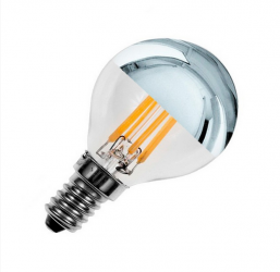 Ampoule E14 G45 3.5W LED Filament Reflect ARGENT Dimmable