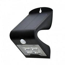 applique-murale-led-solaire-2w-4000°k-noir-détecteur