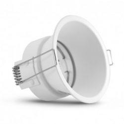 support-de-spot-basse-luminance-rond-rotatif-blanc-ø82-ip20