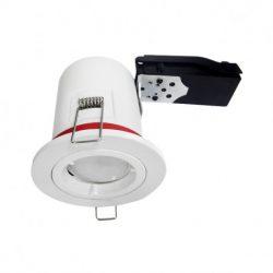 support-plafond-rond-blanc-avec-douille-automatique-o88-mm