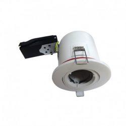 support-plafond-rond-orientable-blanc-avec-douille-automatique-ø100-mm